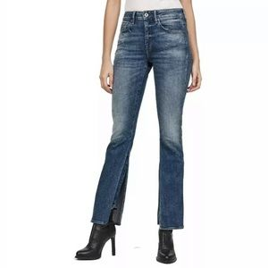 New G STAR RAW Yonova High Flare Jeans Denim